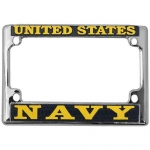 United States Navy Motorcycle License Plate Frame