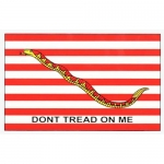 "Assorted Decal - 3"" x 5"" - ""Don't Tread On Me"" Nvy"