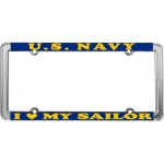United States Navy I Love My Sailor License Plate Frame