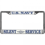 United States Navy Silent Service Metal License Plate Frame