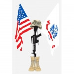 "U.S. Army Decal - U.S. Flag ""Fallen"""