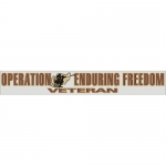 "Veteran Decal - 14"" - ""OEF Veteran"" Strip"