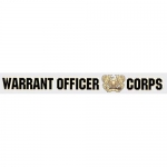 "U.S. Army Decal - 17"" - ""Warrant Off Corps"" Strip"