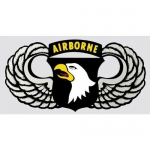 "U.S. Army Decal - 5"" - 101st Airborne Wings"