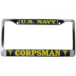 United States Navy Corpsman License Plate Frame