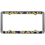 United States Navy Dad Metal License Plate Frame