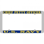 United States Navy Chief Petty Officer License Plate Frame