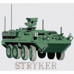 "U.S. Army Decal - 4.5"" x 4.5"" - IAV Stryker"