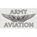 "U.S. Army Decal - 4.5"" x 2.5"" - ""Army Aviation"""