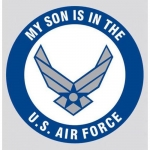 "U.S. Air Force Decal - 3.4"" - ""My Son is in..."""