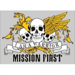 "Assorted Decal - 5"" x 7"" - ""I Am A Warrior"""