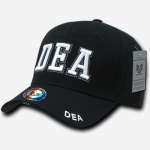 Deluxe Law Enforcement Caps - DEA - Black