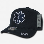 Deluxe Law Enforcement Caps - EMT Cross - Navy Blue
