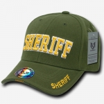 Deluxe Law Enforcement Caps - Sheriff - Olive Drab