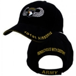US Army Ballcap 101st Airborn - Rendezvous With Destiny - Black