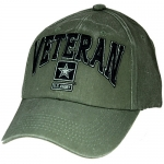 US Army Ballcap Veteran in 3D Letters with Army Star
