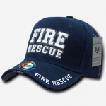 Deluxe Law Enforcement Caps - Fire Rescue - Navy Blue