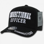 Deluxe Law Enforcement Caps - Correctional Officer - Black