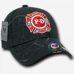 Shadow Law Enforcement Caps - Fire Department - Black