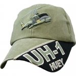 Assorted Ballcap - UH-1 Huey - Olive Drab