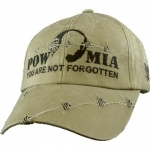"Assorted Ballcap - POW/MIA ""You Are Not Forgotten"" Khaki Cap with Barbed Wire"