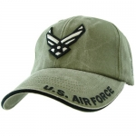 USAF Ballcap Wings Logo and US Air Force on Brim - OD