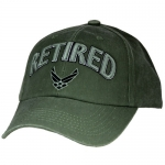 USAF Ballcap Retired W/AIR FORCE 3D LOGO - Olive Drab (OD)