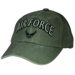 USAF Ballcap with Wings Logo and Text in 3D