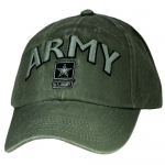 US Army Ballcap - Large ARMY Letters with Army Star Logo - Olive Drab OD
