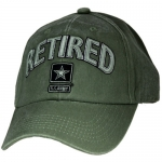 US Army Ballcap - Retired with Army Star - Olive Drab OD