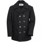 Authentic Pea Coat - Navy - Classic 32 Oz. Melton Wool