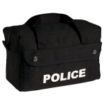 Black Police Logo Canvas Gear Bag - Small