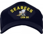 US Navy ID Ballcap - Seabees Can Do with Bumblebee