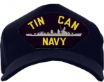 US Navy ID Ballcap - Tin Can Navy with Destroyer