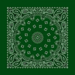 Hunter Green Paisley Print Bandana
